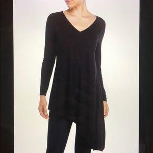 Philosophy Black Asymmetrical Knit Tunic